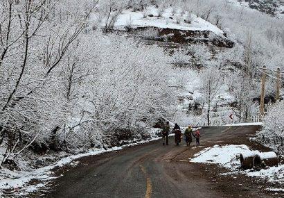 بارش ۴۰ سانتی متری برف در اشکورات