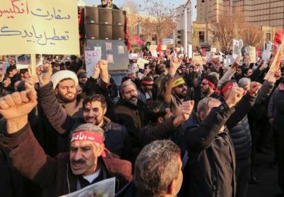 تجمع اعتراضی در برابر سفارت انگلیس در تهران+ عکس