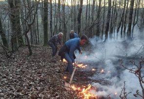 ۱۰ هکتار از اراضی ملی سیاهکل در آتش سوخت