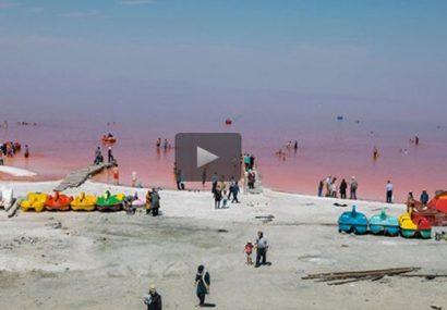 فیلم| دریاچهی ارومیه پس از بارشهای اخیر