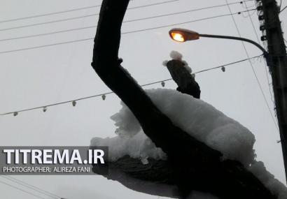 میزان بارش برف در خمام (گیلان)