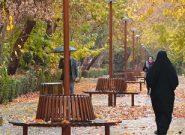 بارش باران پاییزی در اصفهان