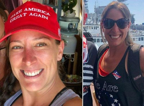 زن کشته شده در کنگره آمریکا ۱۴ سال نظامی بود + فیلم