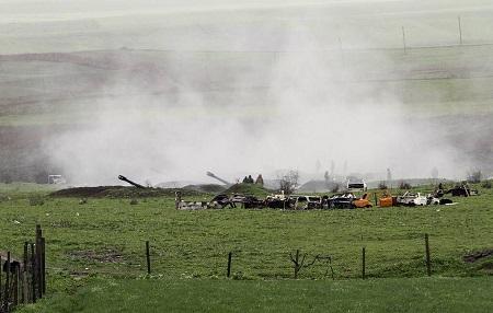 ۲ راکت دیگر طرفهای درگیر در قرهباغ به خداآفرین اصابت کرد