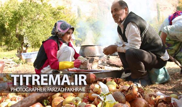 مراسم انارچینی در روستای انبوه / رودبار