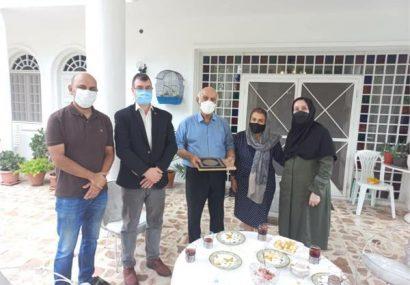 دیدار رییس ادارهی فرهنگ و ارشاد لاهیجان با بنیانگذار سینما شهرسبز